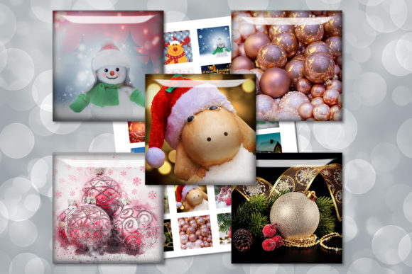 Christmas Printable Squares Images Graphic Crafts By denysdigitalshop