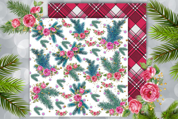 Christmas Scrapbook Paper Download Graphic By Denysdigitalshop