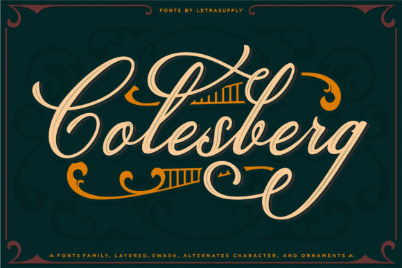 Print on Demand: Colesberg Script & Handwritten Font By letrasupply