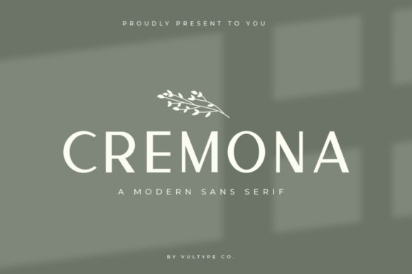 Print on Demand: Cremona Sans Serif Font By vultype