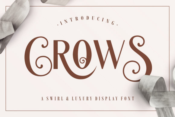 Print on Demand: Crows Display Font By HansCo - Image 1
