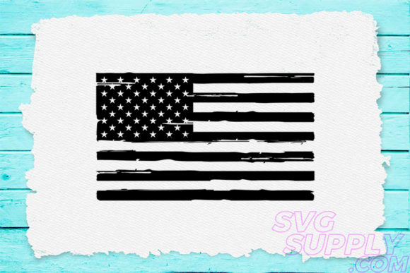 Download Free Distress American Flag Black Graphic By Svgsupply Creative Fabrica for Cricut Explore, Silhouette and other cutting machines.