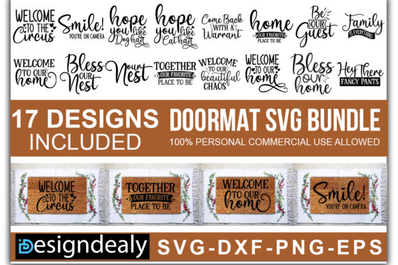 Print on Demand: Doormat Bundle Graphic Print Templates By Designdealy.com - Image 1