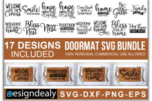 Print on Demand: Doormat Bundle Graphic Print Templates By Designdealy.com