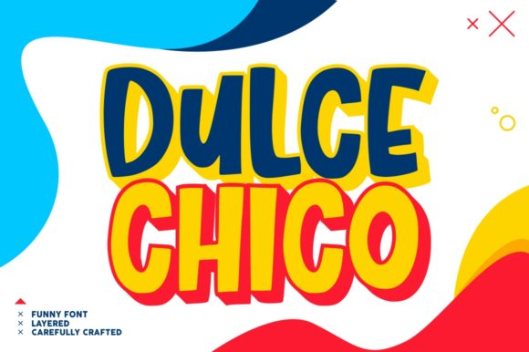 Print on Demand: Dulce Chico Display Font By goodjavastudio