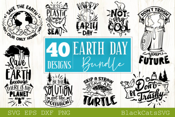 Earth Bundle 40 Designs Graphic Crafts By BlackCatsMedia