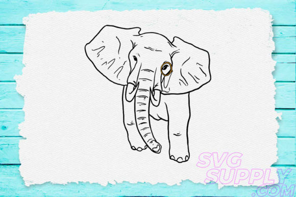 Download Free Elephant Graphic By Svgsupply Creative Fabrica for Cricut Explore, Silhouette and other cutting machines.