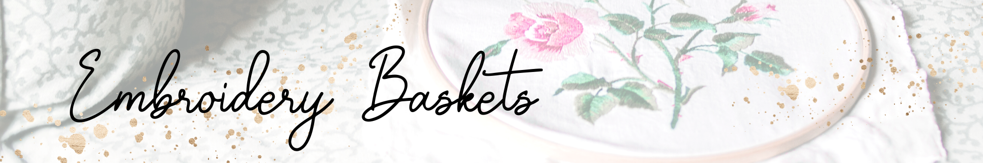 Create Your Own Cute Embroidery Baskets main article image
