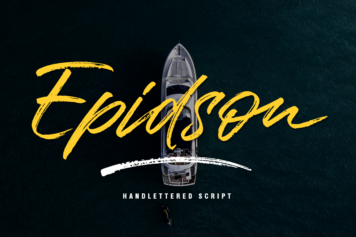 Download Free Epidson Font By Lettersams Creative Fabrica for Cricut Explore, Silhouette and other cutting machines.
