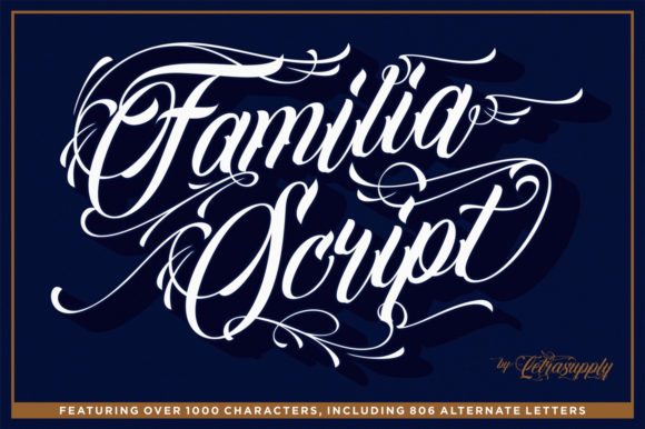 Print on Demand: Familia Script Script & Handwritten Font By letrasupply
