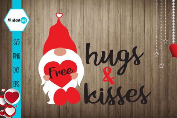 Download Free Free Hugs And Kisses Valentines Graphic By All About Svg for Cricut Explore, Silhouette and other cutting machines.