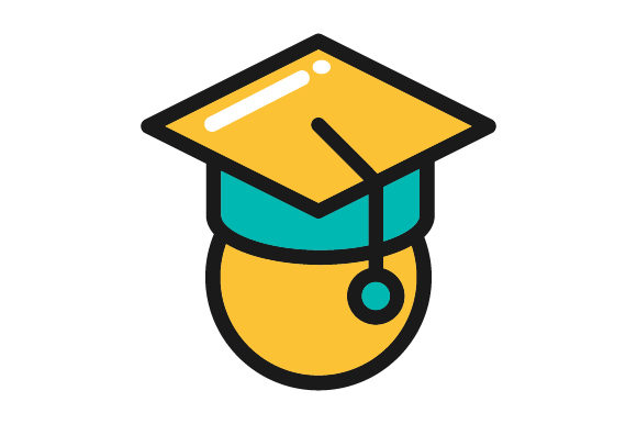 Download Free Graduation Cap Education Filled Line Graphic By Graphicrun123 for Cricut Explore, Silhouette and other cutting machines.