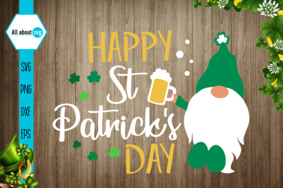 Happy St Patrick's Day Graphic Crafts By All About Svg