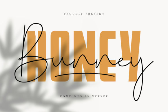Print on Demand: Honey Bunney Manuscrita Fuente Por Vasgaz.creative