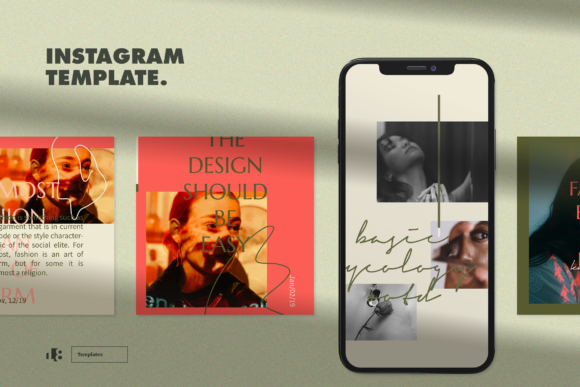 Print on Demand: Instagram Template Graphic Websites By ovoz.graphics