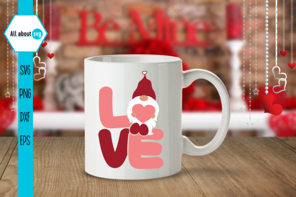 Love Valentines Gnome Graphic By All About Svg Creative Fabrica