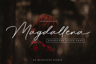 Download Free Magdallena Font By Bluestype Studio Creative Fabrica for Cricut Explore, Silhouette and other cutting machines.