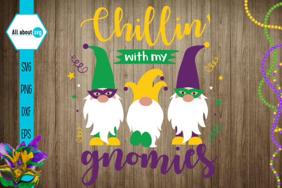 Mardi Gras Gnome Gráfico Crafts Por All About Svg