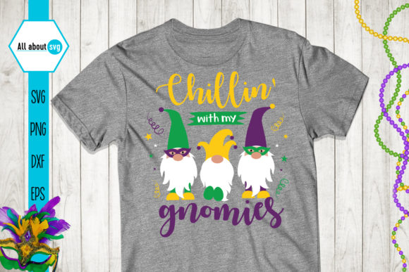 Mardi Gras Gnome Graphic Crafts By All About Svg - Image 3
