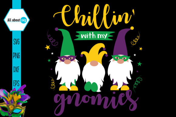 Mardi Gras Gnome Graphic Crafts By All About Svg - Image 5