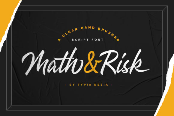 Print on Demand: Math and Risk Script & Handwritten Font By Typia Nesia