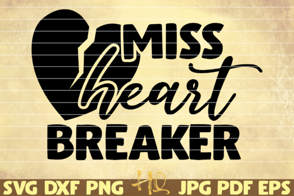 Print on Demand: Miss Heartbreaker Graphic Graphic Templates By mihaibadea95