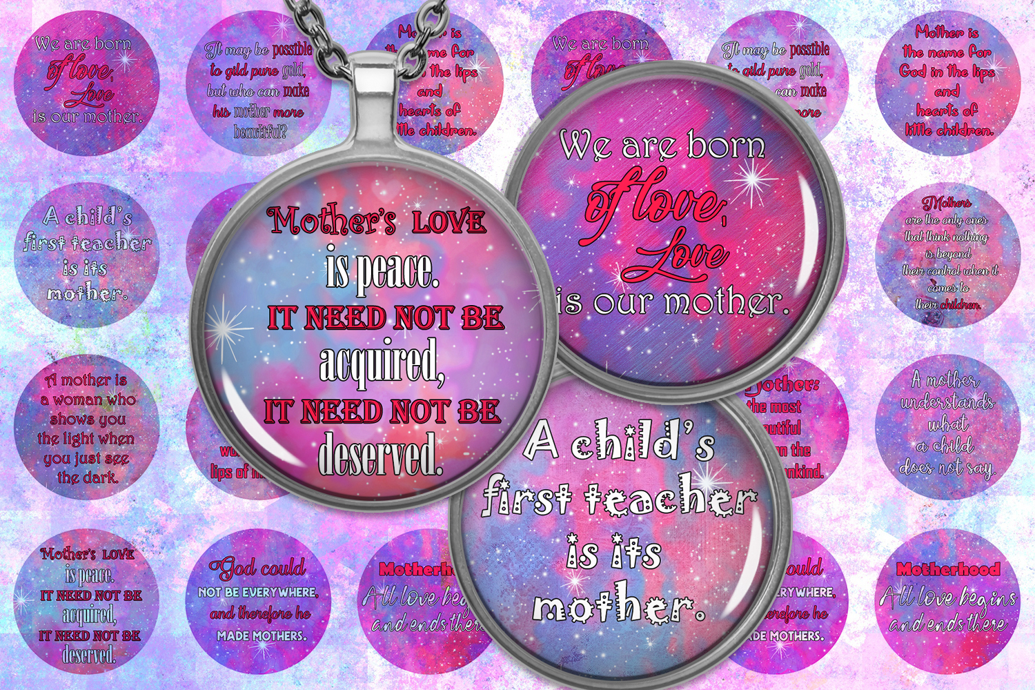 Download Free Mother Day Quotes Quotes Digital Collage Graphic By for Cricut Explore, Silhouette and other cutting machines.