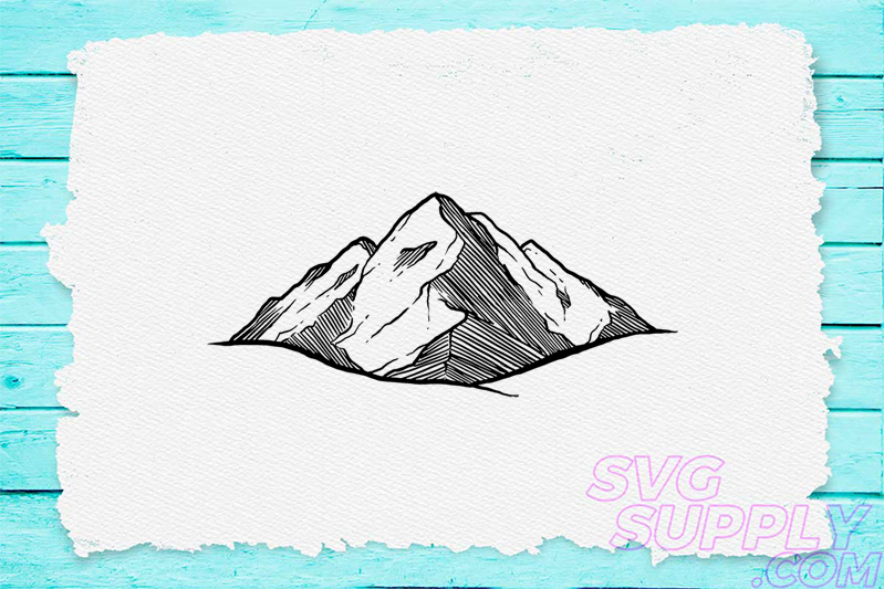 Download Free Mountain Picture Graphic By Svgsupply Creative Fabrica for Cricut Explore, Silhouette and other cutting machines.