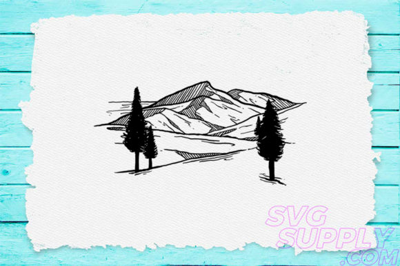 Download Free Mountain Tree Graphic By Svgsupply Creative Fabrica for Cricut Explore, Silhouette and other cutting machines.