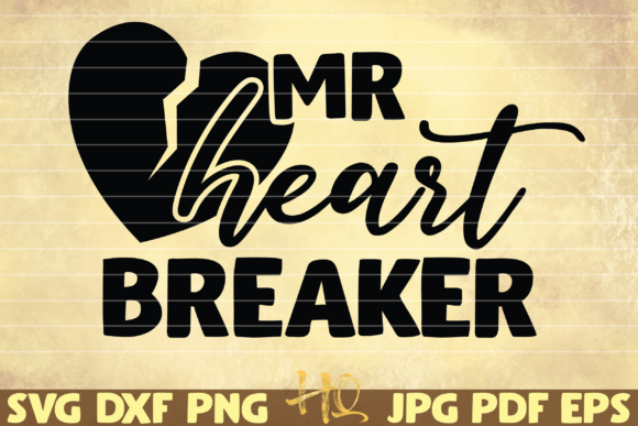Print on Demand: Mr Hearbreaker Graphic Graphic Templates By mihaibadea95
