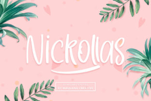 Print on Demand: Nickollas Sans Serif Font By Maulana Creative