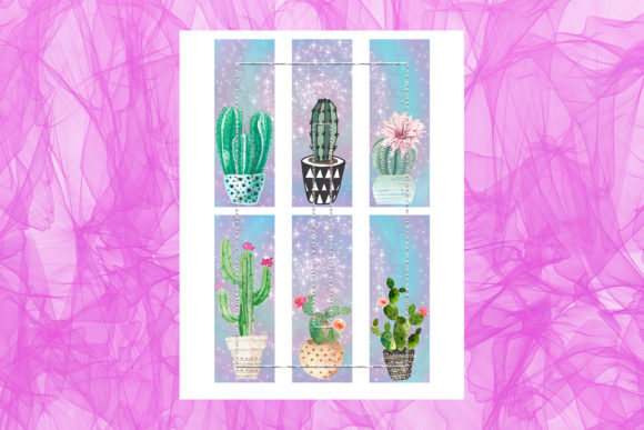 Download Free Printable Bookmarks Cactus Cactus Graphic By Denysdigitalshop for Cricut Explore, Silhouette and other cutting machines.