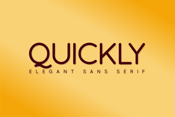Print on Demand: Quickly Sans Serif Font By Huntype
