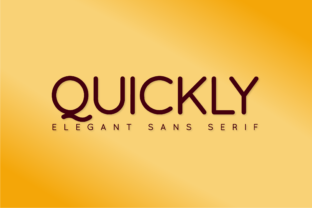 Print on Demand: Quickly Sans Serif Font By Huntype 1