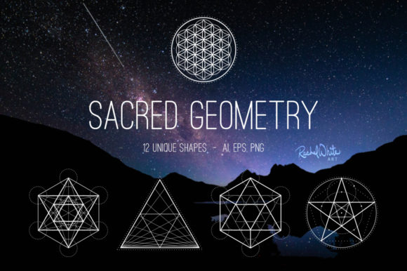 Sacred Geometry Vectors Graphic Illustrations By rachelwhiteart