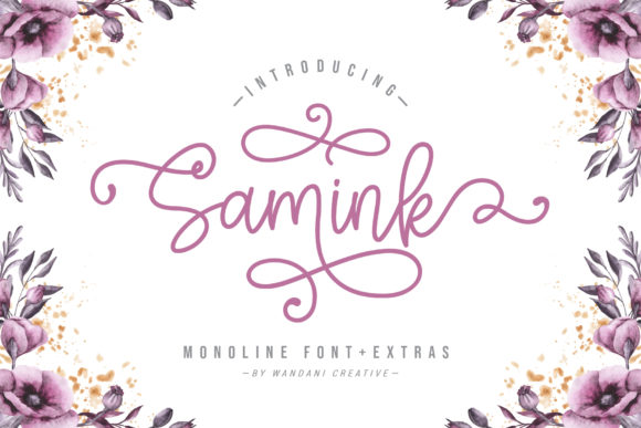 Print on Demand: Samink Script & Handwritten Font By Wandani Creative