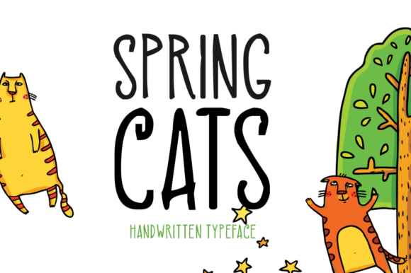 Print on Demand: Spring Cats Display Font By FontEden