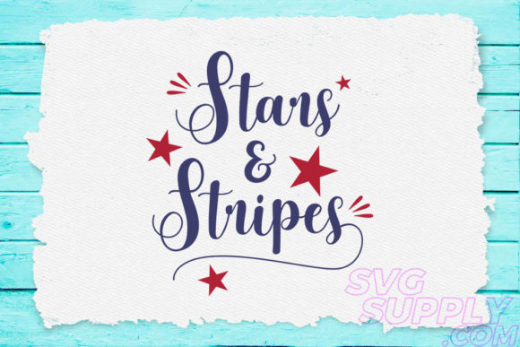 Print on Demand: Star and Stripes Graphic Crafts By svgsupply
