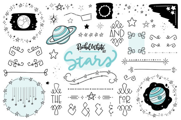 Stars Graphic Illustrations By rachelwhiteart