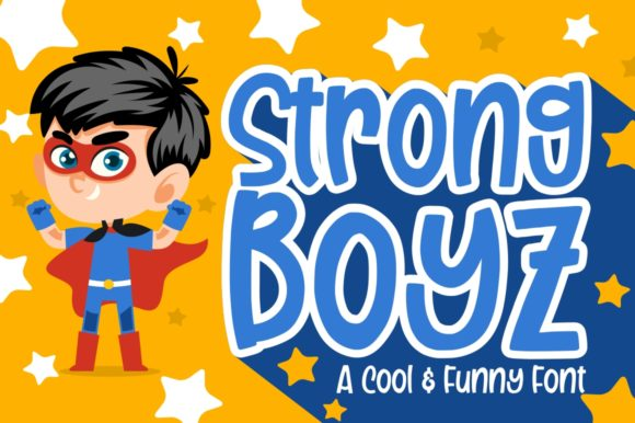 Print on Demand: Strong Boyz Display Font By Garisman Studio