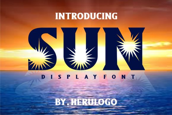 Print on Demand: Sun Display Font By Herulogo