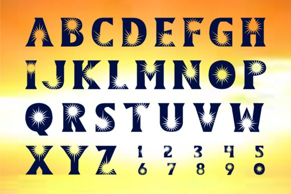 Print on Demand: Sun Display Font By Herulogo - Image 2
