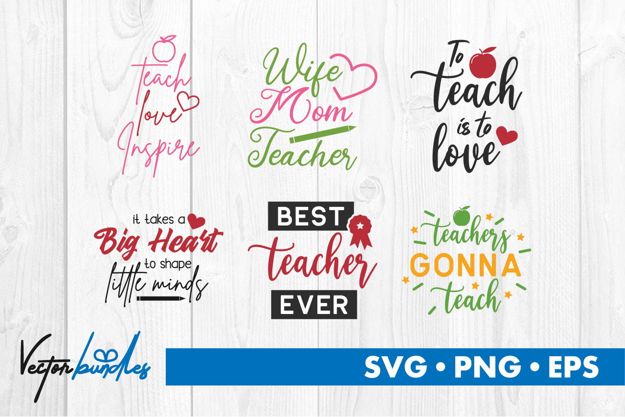 Download Free Teacher Bundle Graphic By Vectorbundles Creative Fabrica for Cricut Explore, Silhouette and other cutting machines.