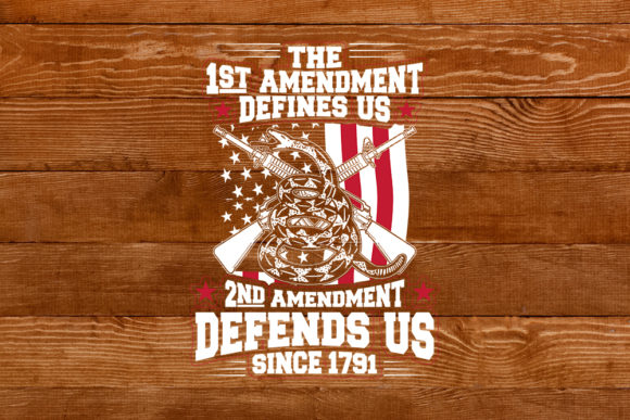 Print on Demand: The 1st Amendment Define Us Graphic Illustrations By svgsupply