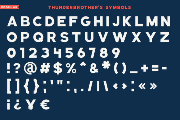 Thunderbrother Font Preview