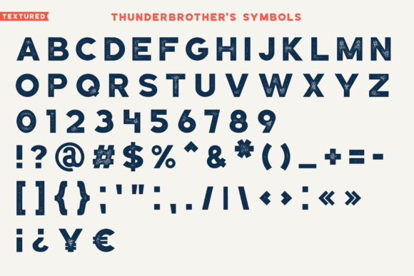 Thunderbrother Font Image