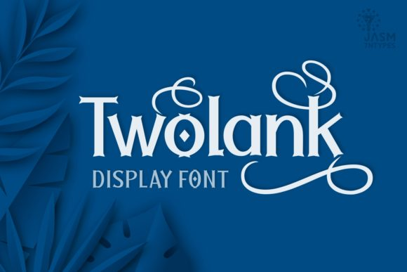 Print on Demand: Twolank Display Font By Jasm (7NTypes)