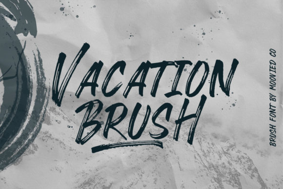 Print on Demand: Vacation Brush Script & Handwritten Font By Temp here