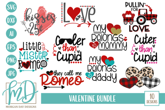 Print on Demand: Valentine Bundle Graphic Crafts By Morgan Day Designs