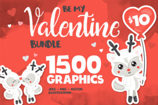 Print on Demand: Valentine Mega Bundle - 1500 in 1 Graphic Illustrations By Prettygrafik